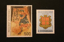 ANDORRE FRANCAIS - timbre Yvert&Tellier n°355 et 363 n**- stamp andorra (cyn1)