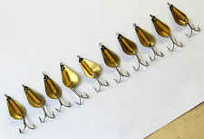 VINTAGE Old Stock 10 pcs spinners Metal Lures Unused - made in France #2