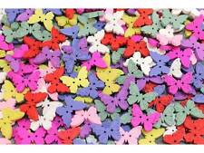 MIX 30 Stück Kinderknöpfe Knöpfe Holz Schmetterling Scrapbooking #9220