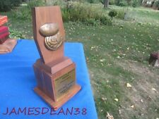 1973 DAIRY QUEEN GOLDEN BRAZIER AWARD SALES TROPHY BALDWIN WISCONSIN