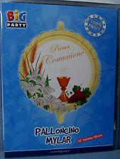 PALLONCINO PRIMA COMUNIONE CALICE ORCHIDEA JHS 45 cm diametro MYLAR FOIL FESTA