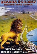 Travel Poster Ugandan Railway British East Africa Nairo