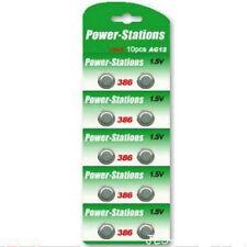 10 x Alkaline 1.5V Button Cell Batteries  AG12 LR43 386