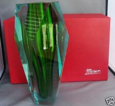 Moser Beryl  Gema Underlay Cut Glass Crystal Vase NEW with Box & Certificate