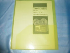 TECHNICS RS-1700 REEL TO REEL OPERATING INSTRUCTIONS