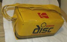 VG Big 1980s Kodak Disc Camera & Film Carrying Bag Yellow/Black/Red Insulated Mb