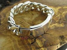 PANZERARMBAND Silberarmband Silber 925 Identitätsarmband Gravurfläche Bracelet