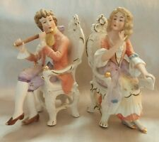 Unger Schneider Porcelain Figurine Boy Girl Couple Dep Bisque Germany Victorian