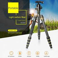 "OBO Carbon Fiber 61"" Professional Tripod Monopod Ball Head for DSLR Camera P9P4"