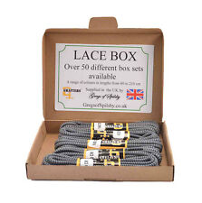 """Laces Grafters Shoes & Boots Grey & Navy Heavy Duty in 5 Pairs BoxSet 140cm 55"""""""