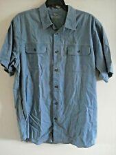 Mens Big & Tall Trail Shirt Blue Size XLT Outdoor Life Short Sleeves