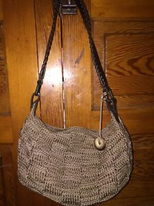 The Sak Purse shoulder bag  crochet boho medium size brown color