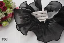 1M Pleated Trim Ruffle Organza Lace Gathered Wedding Dress Doll Sewing Craft