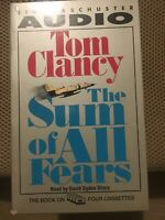 The Sum of All Fears by Tom Clancy. (A Jack Ryan Novel)Audio Book Four Cassettes