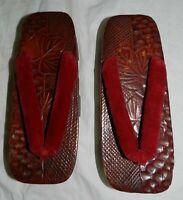 Vintage Japanese Geta Sandals, wooden platform clogs