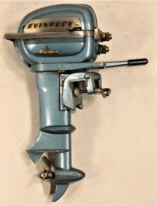 Vintage 1954 Evinrude Big Twin K&O Toy Outboard Motor WORKS NICE!!!