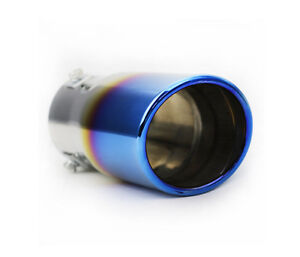 Colorful Neo Chrome Stainless Steel Car Rear Round Exhaust Pipe Tail Muffler Tip