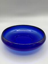 Schale Beistellschale Glas blau Murano-Art Glas