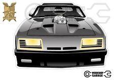 Mad Max Black Interceptor movie car  - XX Large Sticker - Front View