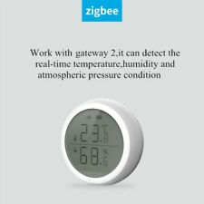 Temperature Humidity Sensor With LCD Screen Display Working With TuYa ZigBee Hub