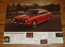Original 1973 Subaru 2-Door Sedan Sales Sheet Brochure 73