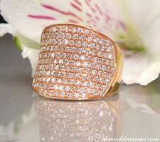 Vom Feinsten: Stattlicher Brillanten Ring, 2,20 cts. w-si, Roségold-750 6.650€