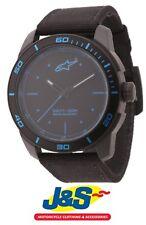 Alpinestars Tech Reloj 3 H Negro Malla de Nailon Negro Azul Motocicleta Moto J&s
