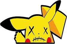 Voodoo Zombie Pikachu pokemon meme  peeker peeper sticker
