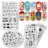 PICT YOU Nail Stamping Plates Christmas Pattern Nail Art Image Stencil Templates