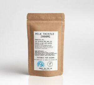 MILK THISTLE LIVER SUPPORT DETOX TABLETS / CAPSULES High Quality Fitness Health
