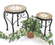 Taburete de flor Merano Mosaico SET DOS 12014 FLORERO 20 y 27cm Rendondo
