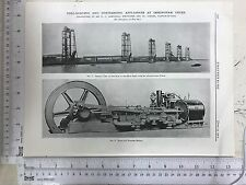 Coal Appliances At Immingham Docks, On Tyne: 1912 Engineering Magazine Print