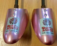 Vintage Dolcis Pink Metal Shoe Trees