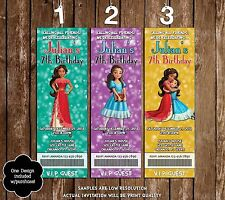 Elena of Avalor - Birthday Party Ticket Invitation - 20 Printed W/envelopes