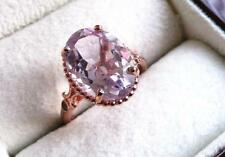 Zircon Solitaire with Accents Amethyst Fine Rings