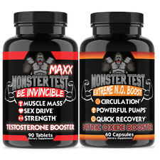 Testerosterone Booster w/ Monster Test Maxx + Monster Test Nitric Oxide 2-PK