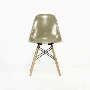Eames Modernica Case Study Celery Fiberglass Side Shell Chair with Dowel Base