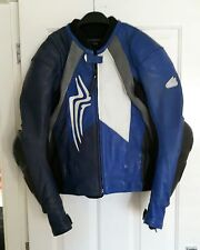Mens HEIN GERICKE motorbike jacket - LEATHER & KEVLAR - size 54 approx UK 44