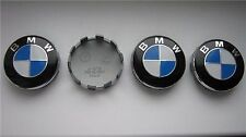 4xBMW WHEEL CENTRE CAPS 10 PIN CLIPS 68MM BADGE M TECH 1 3 5 6 7 8 SERIES X3 X5