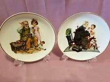 Inspired by Norman Rockwell Decorative Collectible Plates - set of 2 Nice