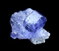 82g Beauty Translucent Gem Level Blue Fluorite Crystal Mineral Specimen/China