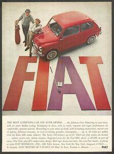 FIAT Series 600 Sedan - FIAT SEICENTO - 1959 Vintage Print Ad