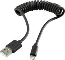 Spiralkabel Spiral Kabel Ladekabel für iPhone 5 5S 5C 6 6 Plus Schwarz