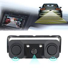 3 In 1 Car Parking Reversing Radar Sensor Rear View Backup 170 Degree Camera