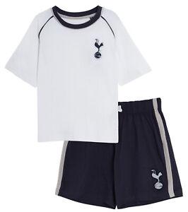 Kids Tottenham Hotspur Short Pyjamas Boy Premiership Football Kit Shorts T-shirt