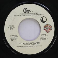 Rock 45 Chicago - You'Re The Inspiration / Once In A Lifetime On Warner Bros. Al