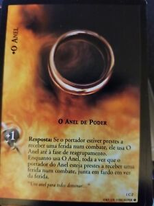 Lord of the Rings CCG Fellowship 1C2 The One Ring The Ruling Ring PORTUGUESE TCG