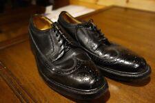 Florsheim Imperial 5 Nail V Cleat Black Pebble Grain Long Wing Tip Shoes 9.5 D