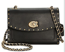 🌺🌹COACH Parker 18 Shoulder Bag Black/Gold