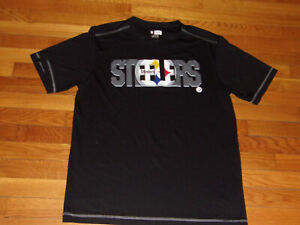 NEW NFL TEAM APPAREL TX3 COOL PITTSBURGH STEELERS SHORT SLEEVE JERSEY MENS LARGE